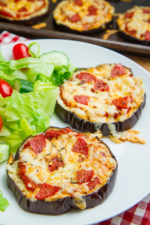 Eggplant Pizzas on Closet Cooking