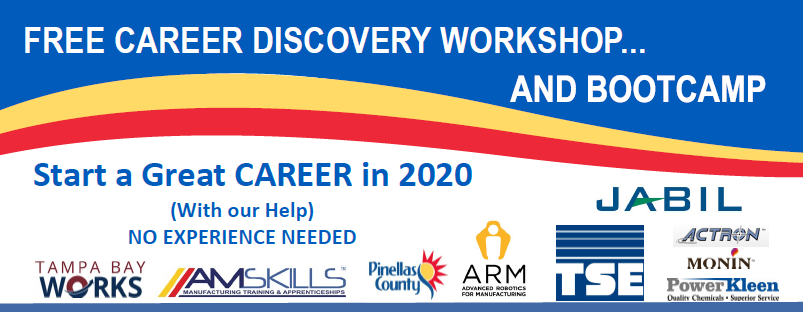 Tampa Bay Works and AMSKILLS Career Discovery Workshop and Bootcamp!