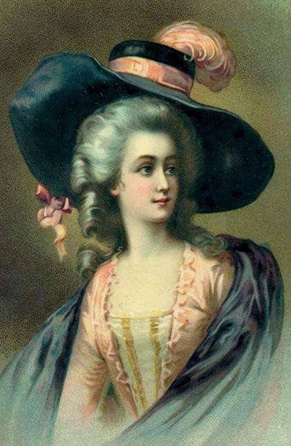 Vintage Paintings Of Women bumble button: Romanti...