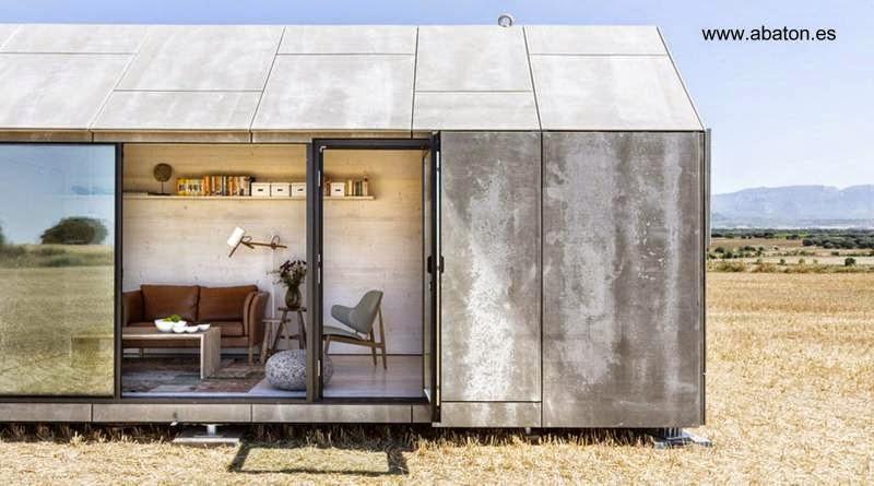 Modelo de casa en un módulo de bajo costo en España
