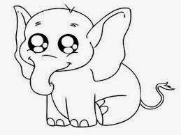 mewarnai gambar gajah untuk anak 14