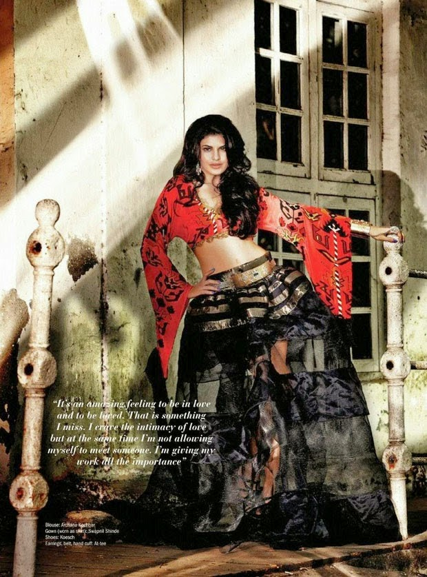 Jacqueline Fernandez - Hot Photoshoot for Filmfare Magazine May 2014