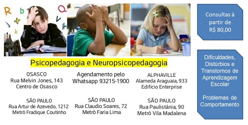 Especialista em atendimento psicopedagógico e neuropsicopedagógico para crianças e adolescentes.
