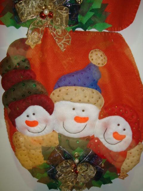 Juegos Baño Navidad Fieltro:Juego de baño Muñecos de Nieve