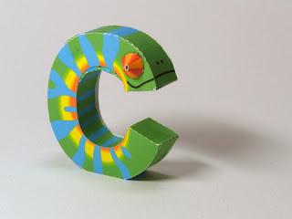 letras alfabeto inglês educação infantil alfabetização brinquedo de papel imprimir e montar