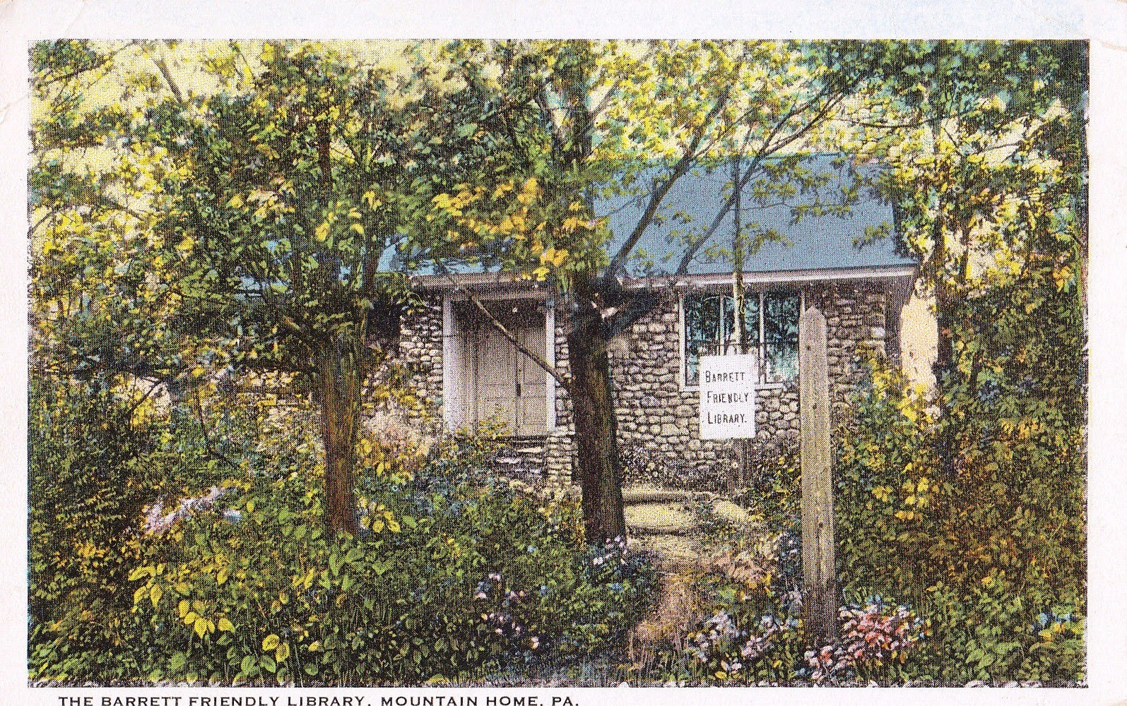 Library Postcards Barrett Friendly Library Mountain Home