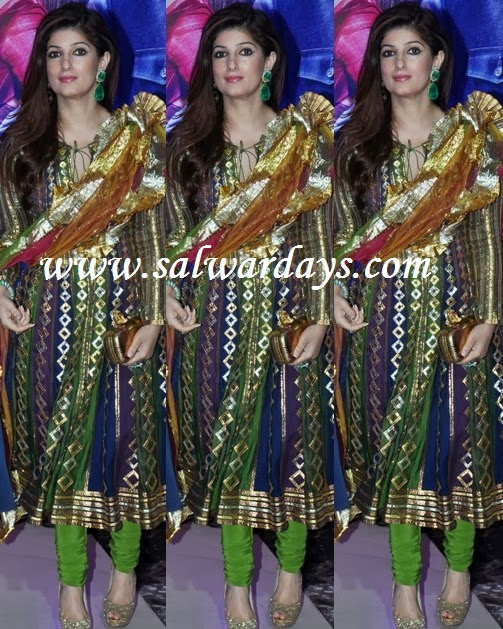 Indian Salwars and Indian Fashion: twinkle khanna in multi ...