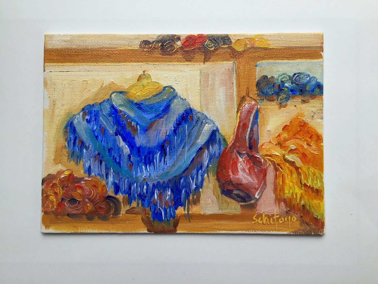 shawl painting, little painting, Knox Farm State Park, Kath Schifano