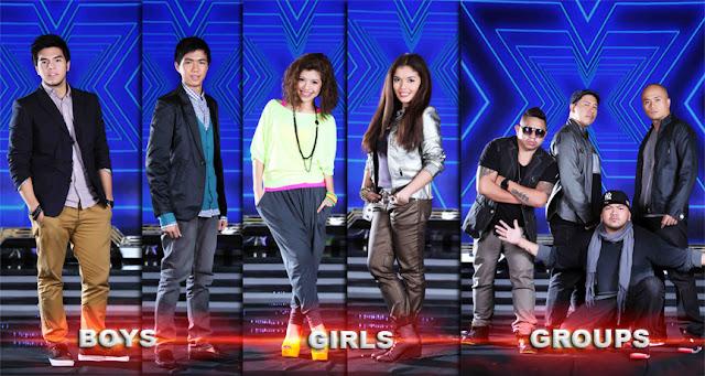 The X Factor Philippines Final 5 on 8th Live Show (September 22): Jeric Medina, Gabriel Maturan, Allen Sta. Maria, KZ Tandingan and Daddy's Home