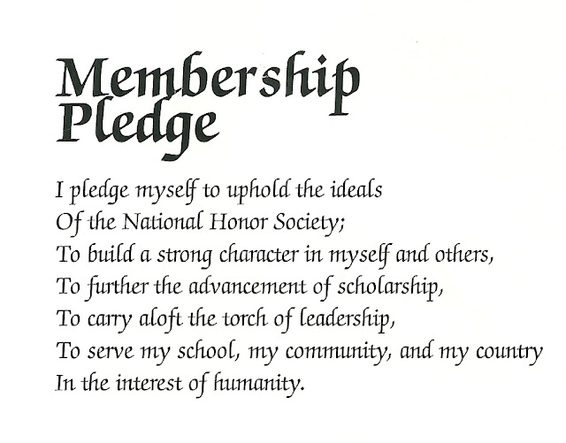 Happy Clean Living: National Honor Society Induction Ceremony