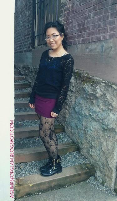 black lace sweater