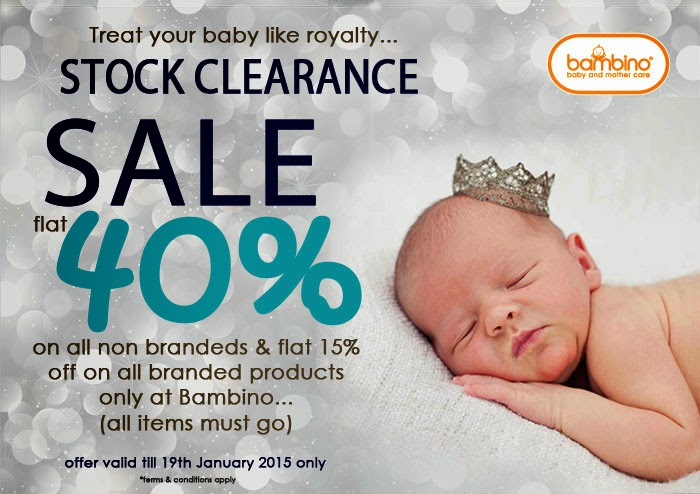 Treat your baby like royalty - Stock Clearance valid until 19/1/15.