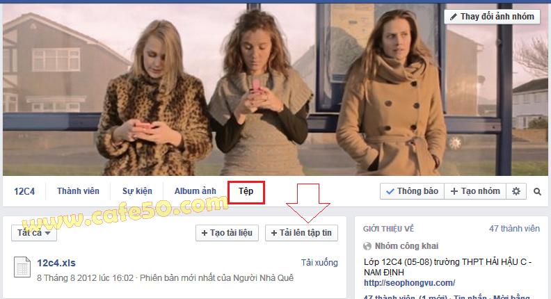 Cách đính kèm tập (tệp) tin trên Facebook