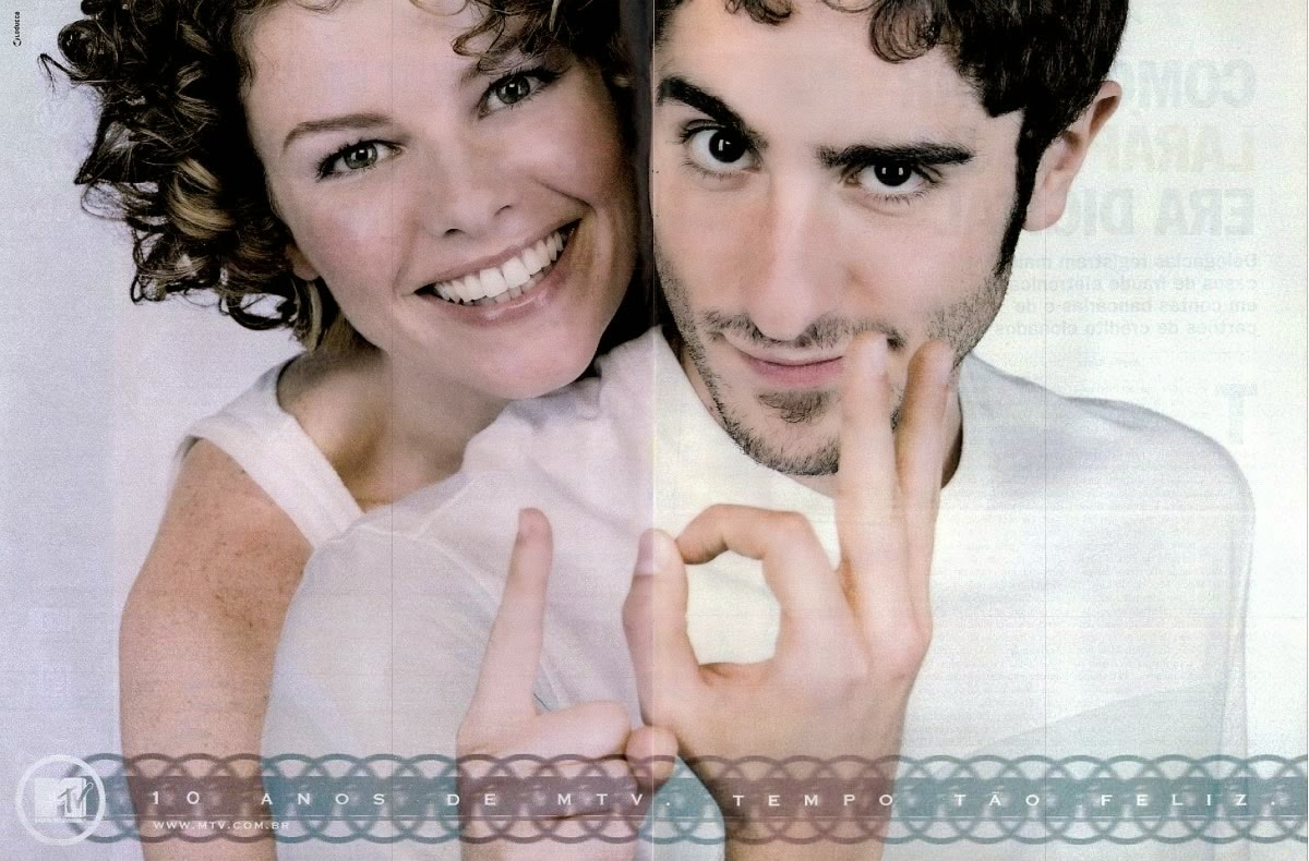 Campanha comemorativa aos dez anos da MTV no Brasil.