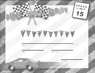 Divine image with free printable pinewood derby certificates