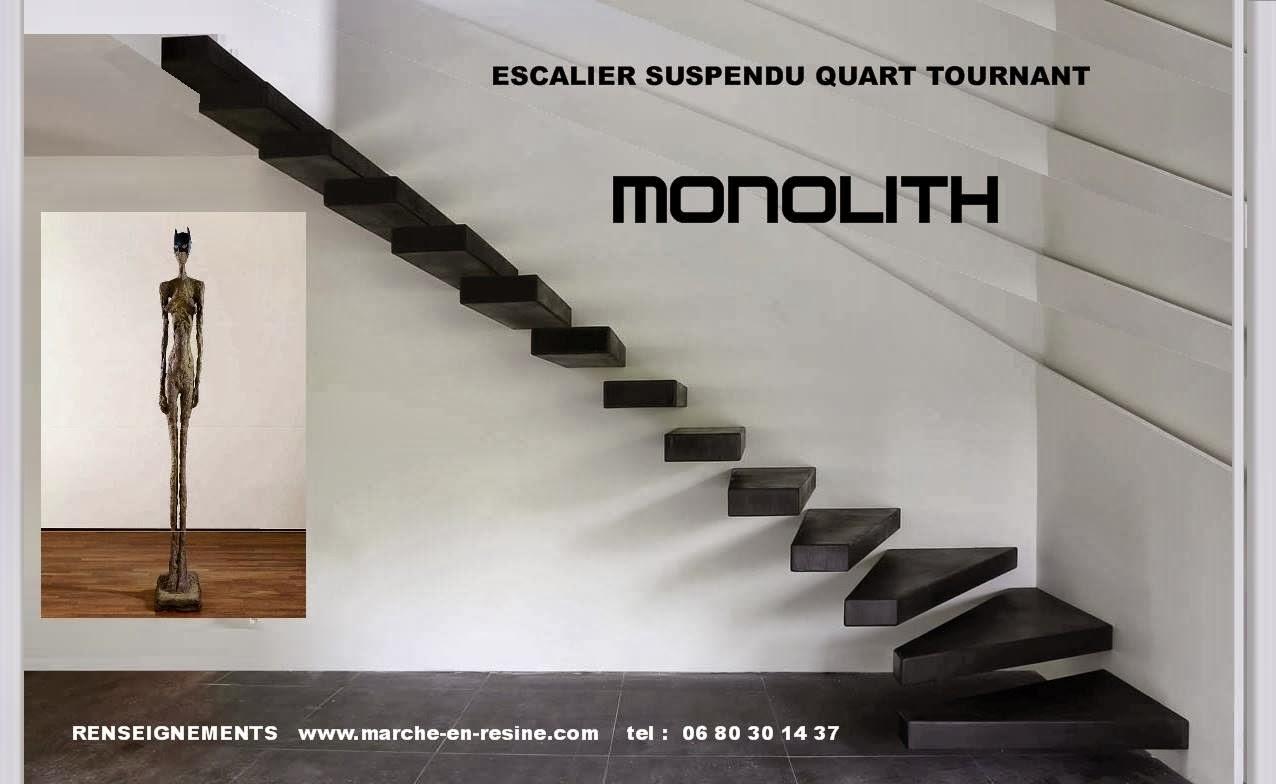 Escalier suspendu fabrication de marche caisson en b ton - Hauteur de marche d escalier ...
