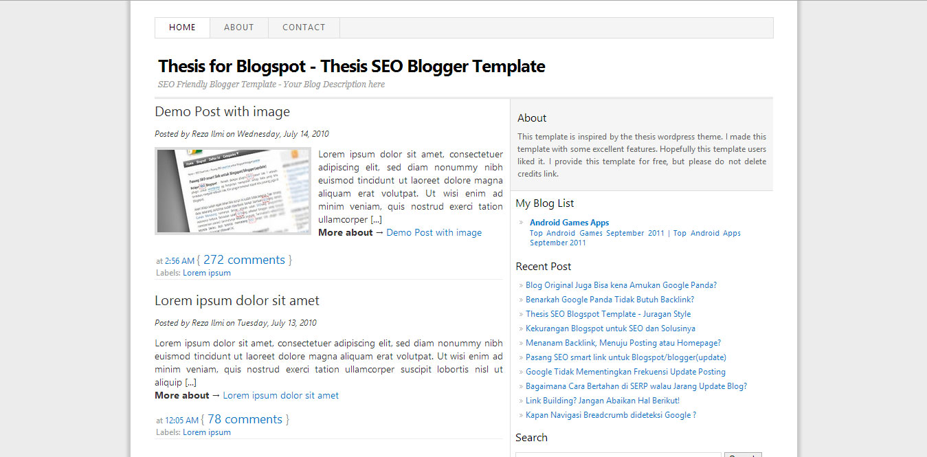 SEO Thesis Blogger Template