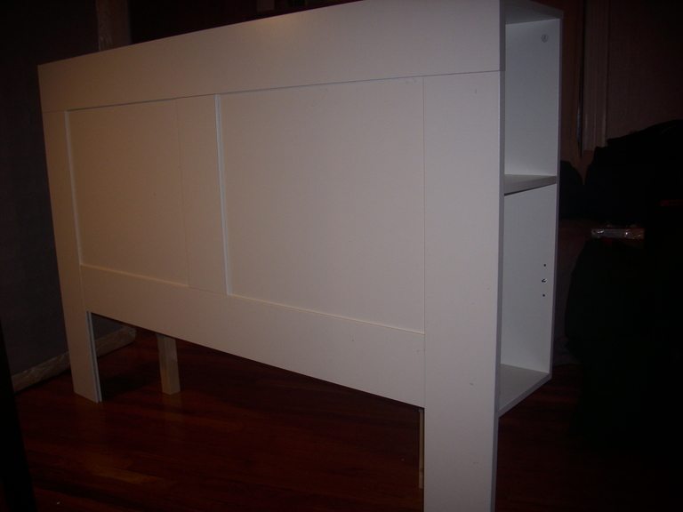 Free Standing Brimnes Headboard for Renters ~ Get Home Decorating