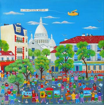 """La Primavera arriva""Plaza du Tertre Montmartre Paris"