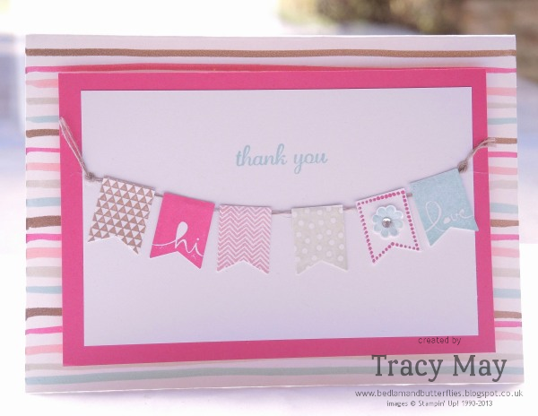 Stampin Up Banner Blast SAB Tracy May Card Making ideas