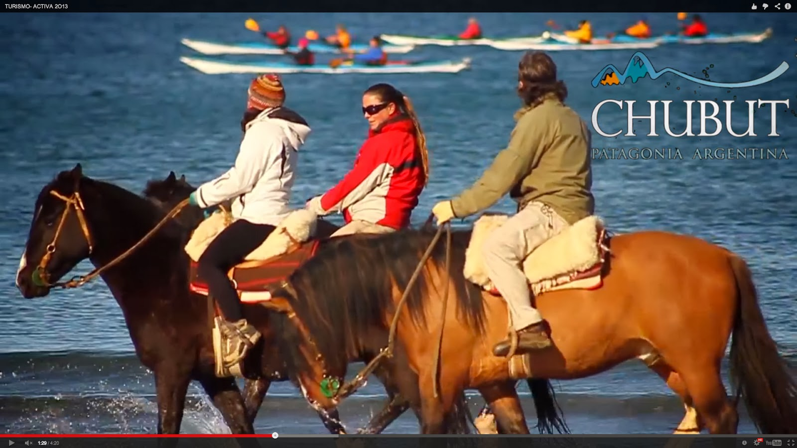 Chubut in a video full of nature and adventure