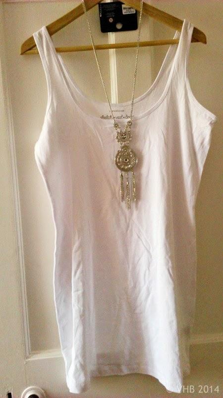 White Stretch Vest/Dress - Size 18 - Primark