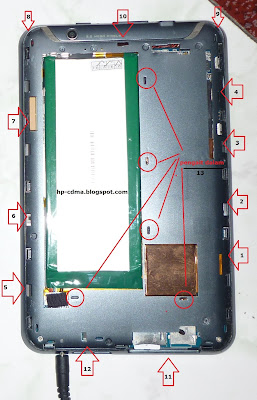 ... membuka tutup belakang / back cover smartfren andromax tab skyworth S7