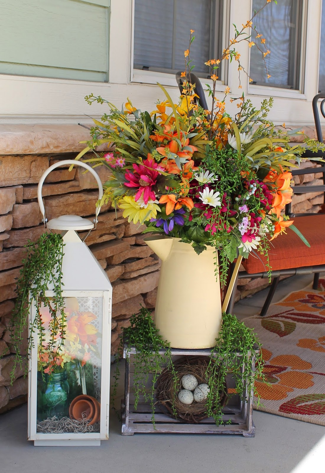 Southern seazons spring front porch decor for Outdoor decorating ideas for spring