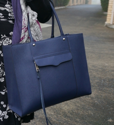 Rebecca Minkoff medium MAB tote bag in moon navy for office