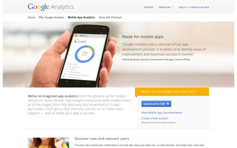 Google Mobile App Analytics