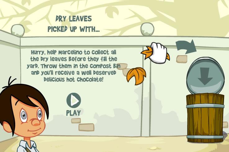 Kids Game : Clean Fallen Leaves