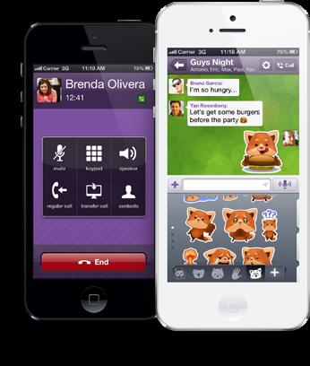 تحميل تطبيق فايبر أحدث إصدار لجميع الأجهزة والهواتف الذكية مجاناً Viber 4.2.1.1 APK,iOS,xap,bb,IPA