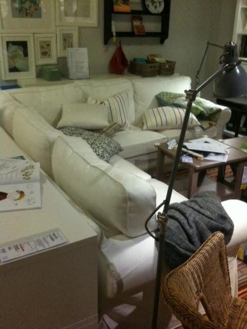 Gray Hilltop House Ektorp Sofa