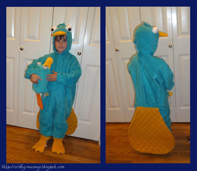 Perry the Platypus, front and back views