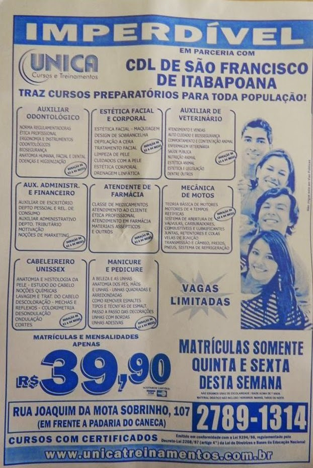 CDL EM SÃO FRANCISCO DE ITABAPOANA RJ