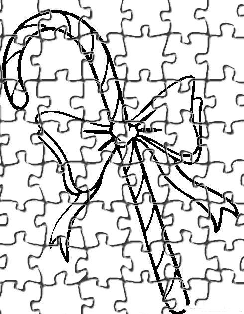 Desenho como desenhar Quebra cabeça do papai noel para recortar pintar e colorir