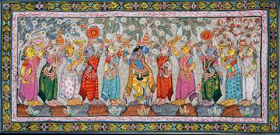 Patachitra Painting Art Lord Krishna