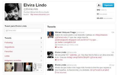 Retuit de Elvira Lindo al post Y que me caiga muerta