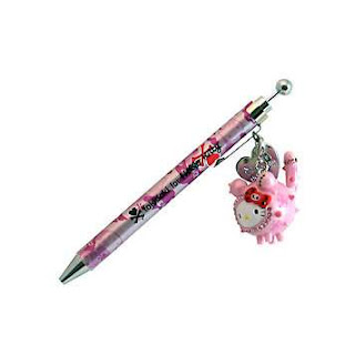 Hello Kitty cute Tokidoki pink charm ballpoint pen for school