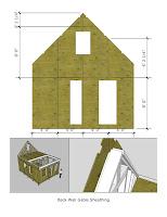 planos y diagrama de casita pequeña