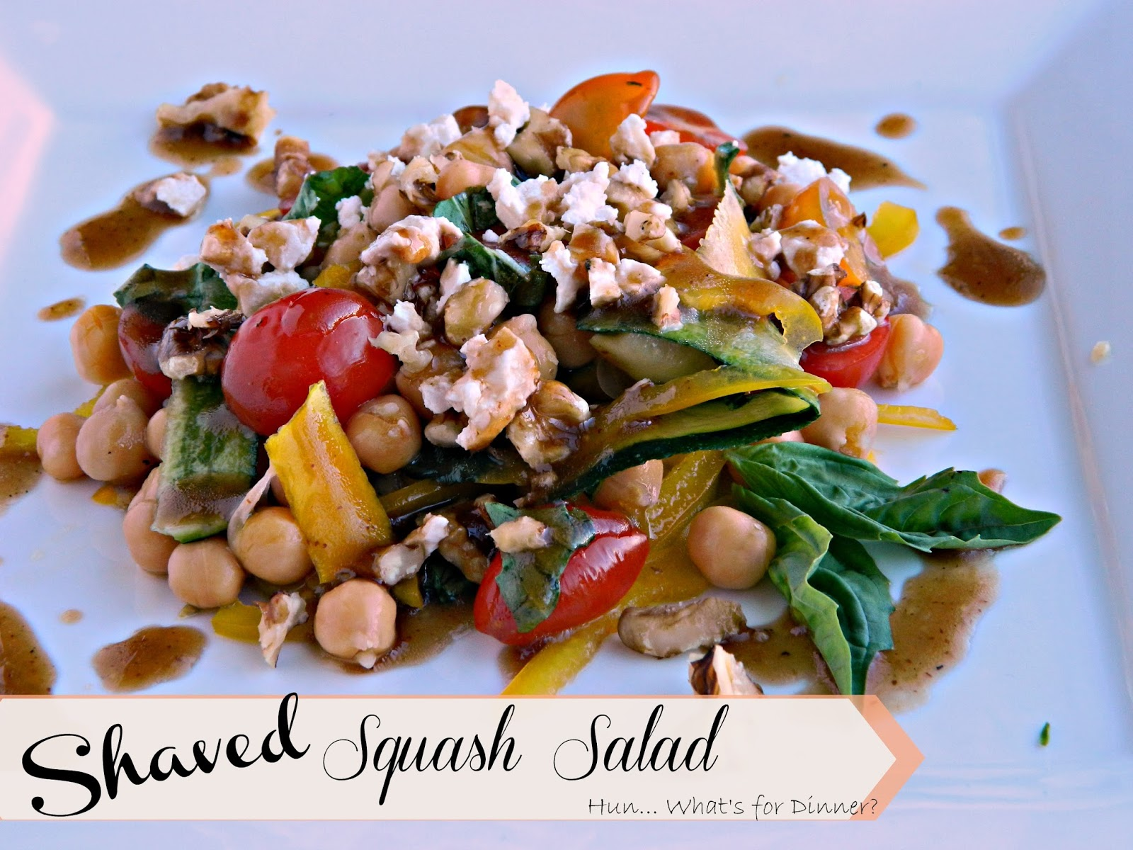Hun... What's for Dinner?: Shaved Squash Salad & Cookbook Review