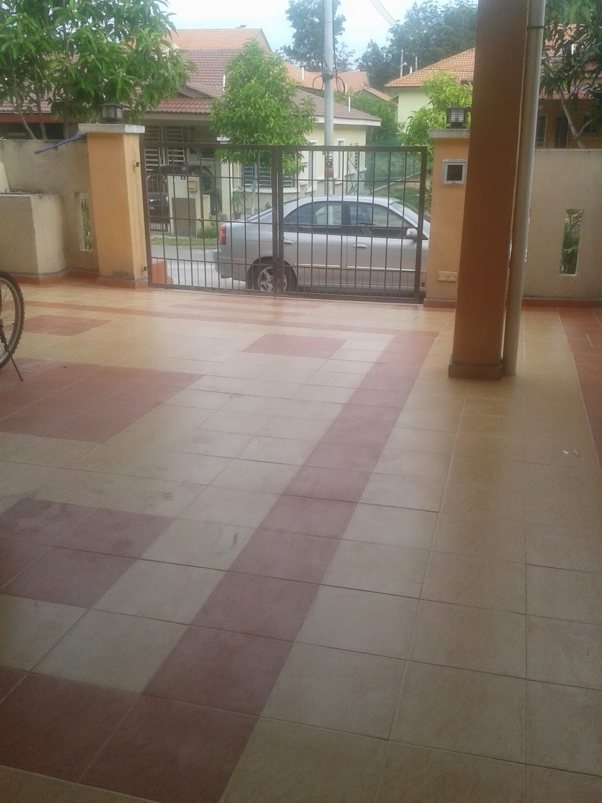 Pengalaman Pasang Tiles Car Porch