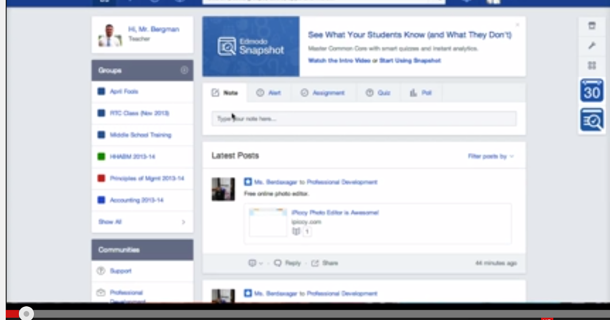 Snapshot- A Great New Edmodo Tool For Teachers