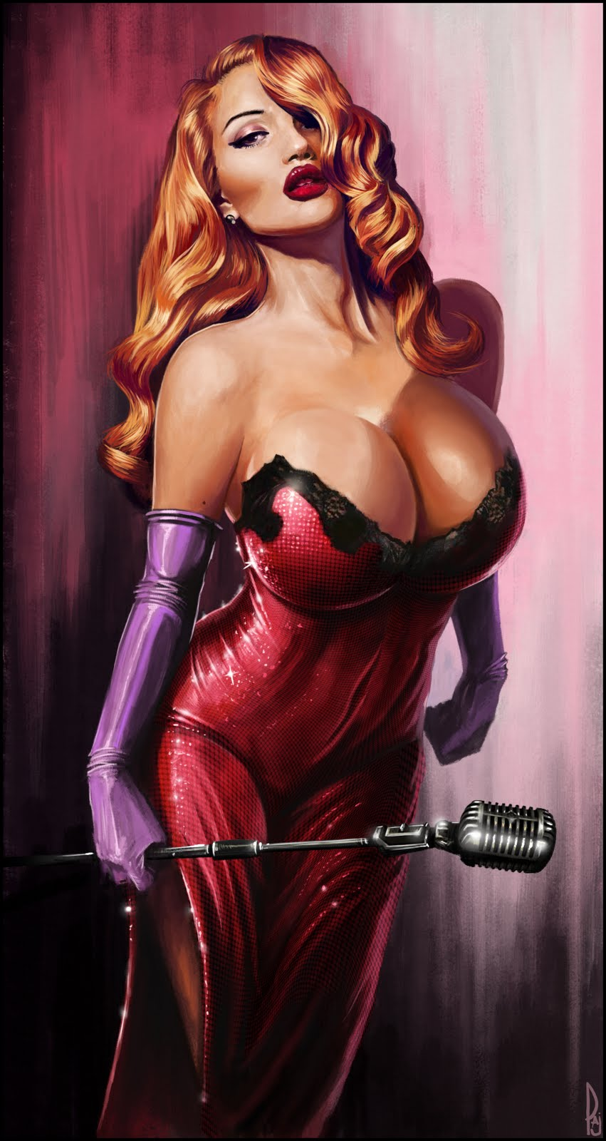Jessica Rabbit Version By David Paget Pin Up And
