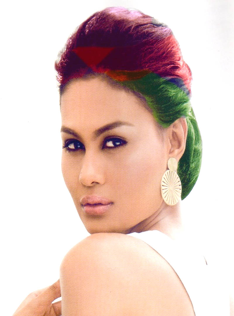 Short hair Style Guide and Photo: Colorful funky hairstyles for long ...