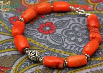 koral pomarańczowy bransoletka