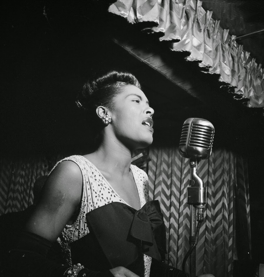 short play script for two actors - duologue for man and woman - Historical fiction musical romance - Billie Holiday