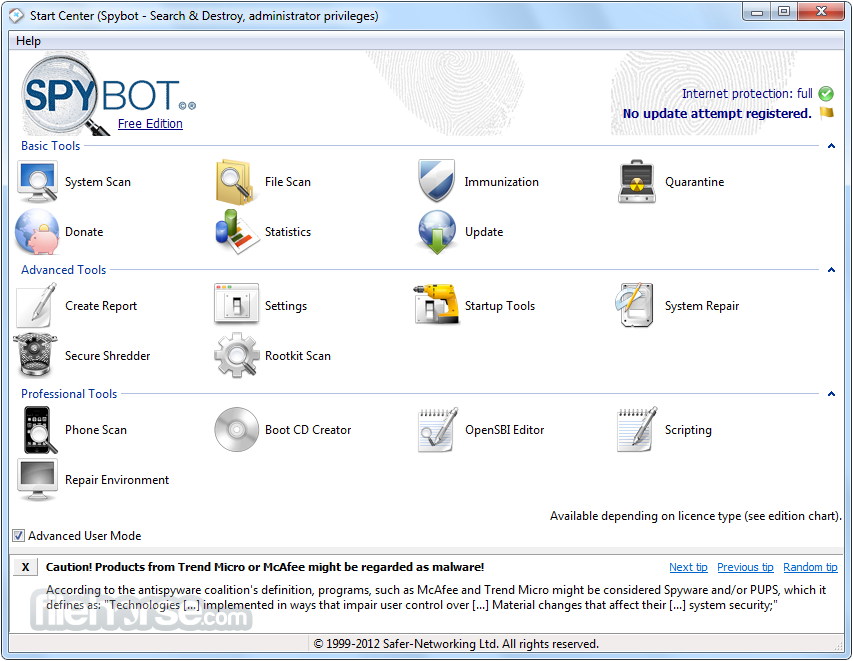 Spybot Search & Destroy v2.4 Terbaru