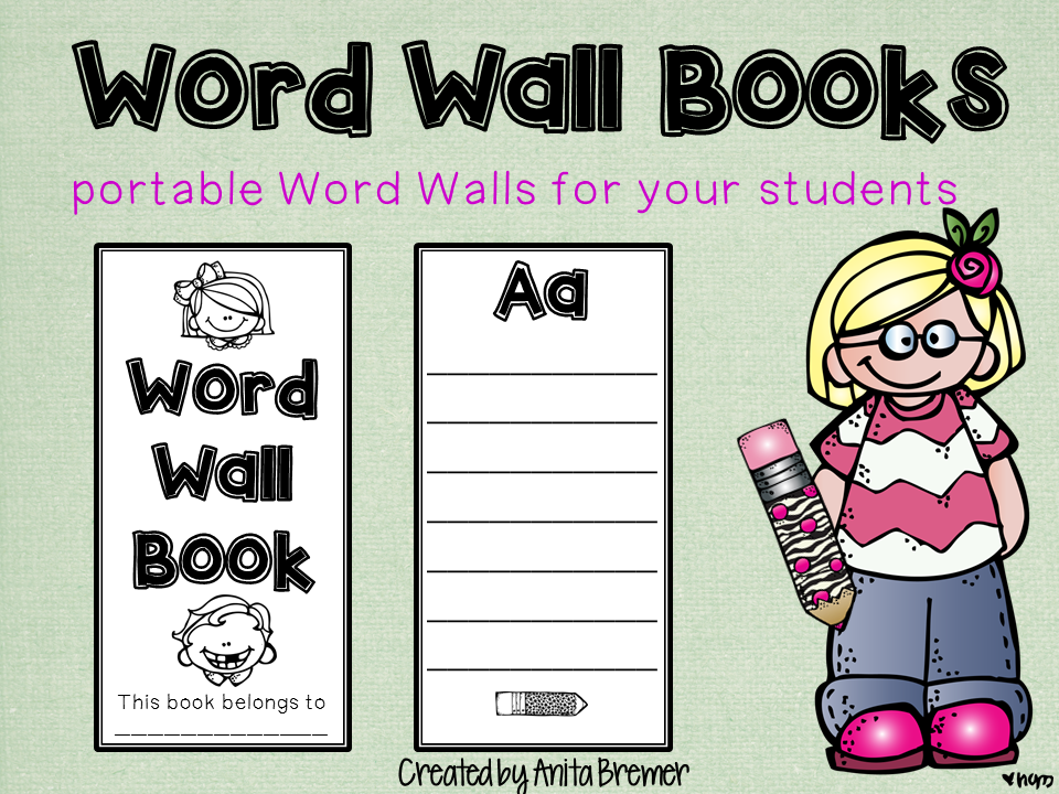 Word Wall Books: Portable Word Walls for your students!