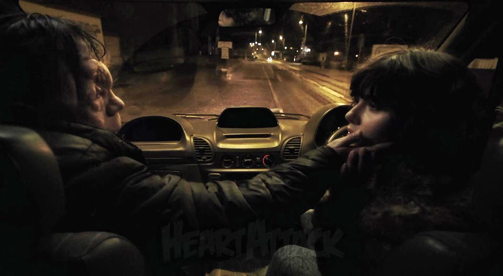 Adam Pearson and Scarlett Johansson in Under the Skin